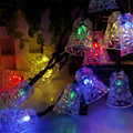 1*4.8M 20LED Xmas Lovely Bell Shaped Waterproof Fairy String Light,Solar-powered LED for Christmas Tree Kid's Bedroom Decoration
