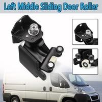 Black N/S Left Middle Sliding Car Door Roller Guide For Fiat For Ducato For Peugeot Boxer For Citroen Relay 2006 2012 Black