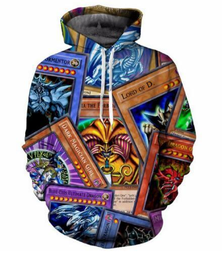 Yugioh Monster Cards Hoodies Women Men Autumn 3d Printed Crewneck Harajuku Long Sleeve Sweatshirt Outfits Jersey Tops 5xl Clearance Price Men's Clothing