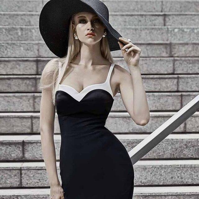 dae07c6b5a Elegant Black Bandage Dress Women 2018 New Sleeveless Summer Dresses  Bodycon Vestidos Celebrity Party Dress Knee