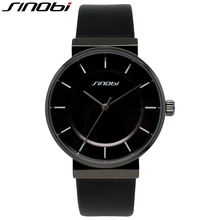 SINOBI Informal Black Leather-based Band Lover's Watch Style Workplace Water Resistant Girls Wristwatch 2017 Montre Femme Christmas Present