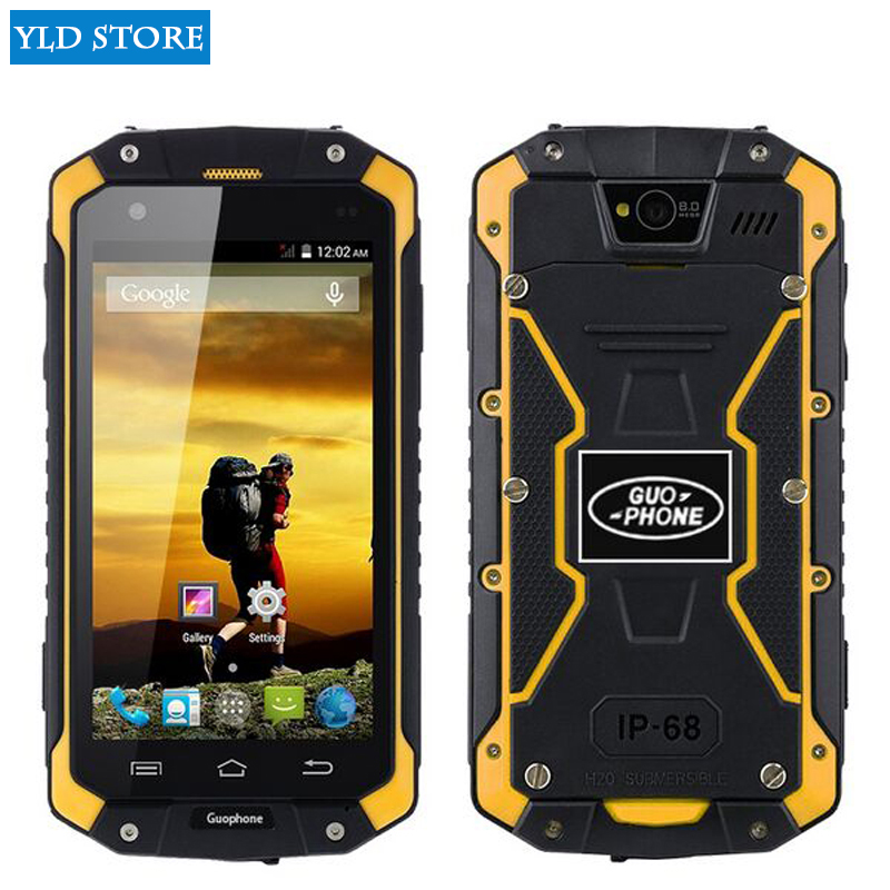 Original guophone V9 IP68 Rugged Waterproof cell Phone MTK6572 Android 4.4 4.5IPS 512MB+4GB WCDMA 3G mobile Phone discovery