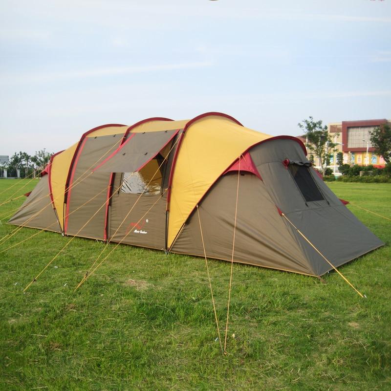 Открытый нескольких человек большой палатка два Спальня Гостиная 5 8 человек Семья групп путешествие по автомобилей партия палатки