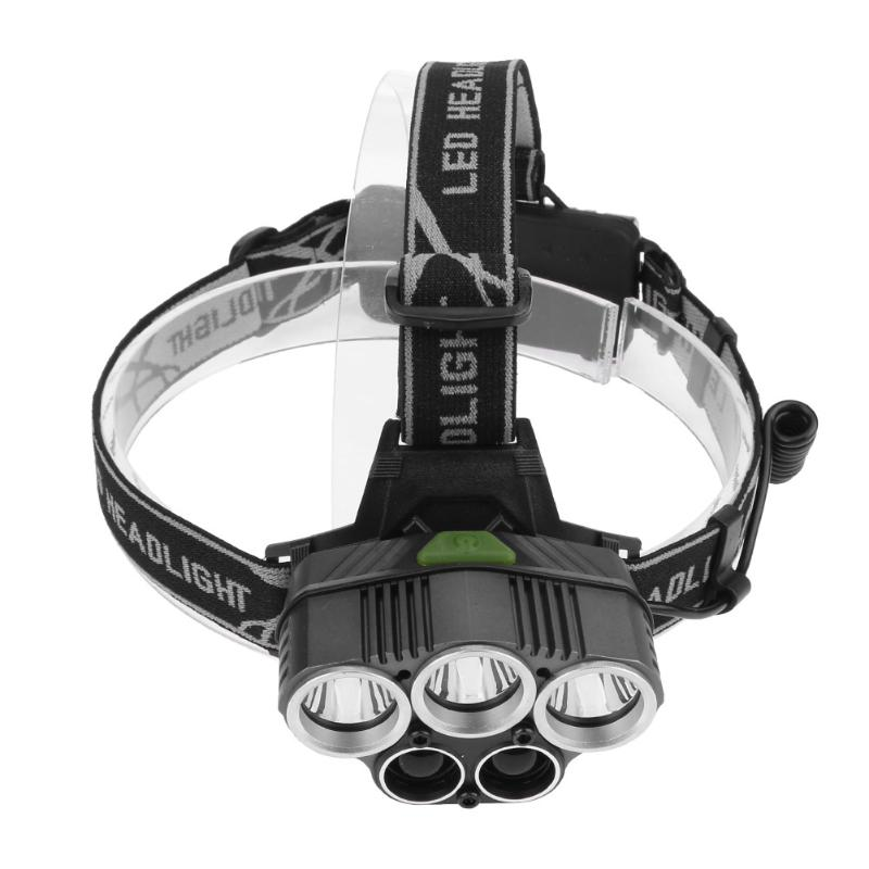 5 LED Camping Headlamp Hunting Torch Light CREE USB Rechargable Outdoor Hiking Searching Lantern Flashlight  2*18650 Battery origial jetbeam rrt 2 cree u2 led tactical flashlight for camping hunting hiking fishing bicycle tactical torch w 18650 battery