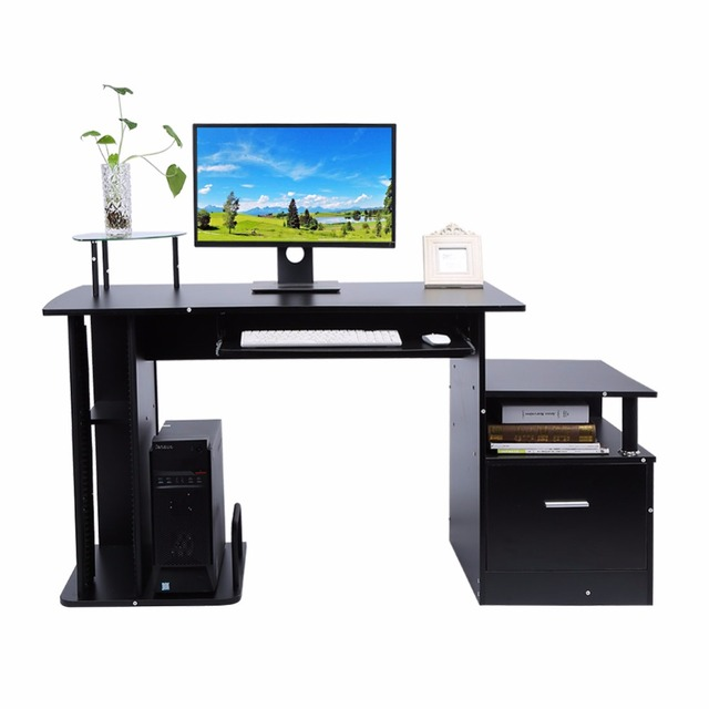 TV Stand Wood Computer Desk Table Office Workstation Study