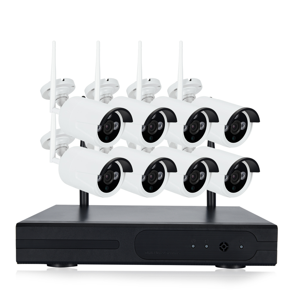 Wireless 8CH NVR System Outdoor 720P 960P 1080P HDMI 8CH NVR KIT Super Wireless Signal P2P WIFI IP Camera Waterproof CCTV