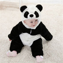 2016 New Child Animal Costume  Cute Climbing Pajamas Romper Jumpsuit Coverall Pretty Panda Rompers for Youngsters