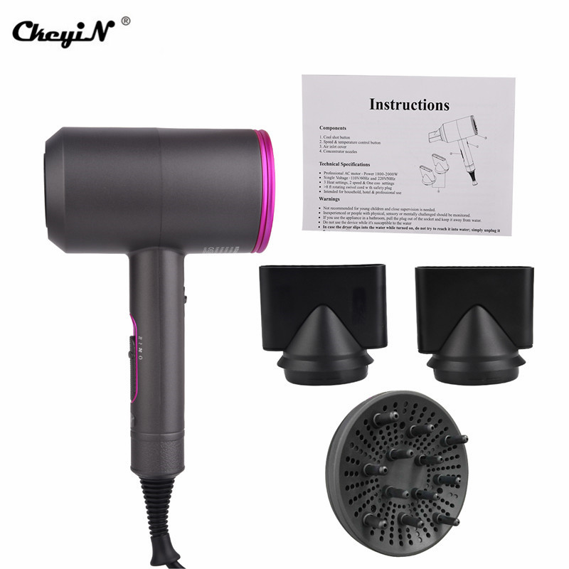 Image 5 - 2000W Hair Dryer Constant Temperature Control Foldable Blow Dryer Quick Drying Travel Hair Blow Dryers Low Noise PK Xiaomi mi 21-in Hair Dryers from Home Appliances