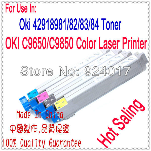 Color Toner For OKI C9650 C9850 Laser Printer,42918904/03/02/01 Toner For OKI Printer,Use For Okidata 9650 9850 Toner Reset chip for oki data c 9650xf chip for oki data 9850 mfp for okidata c9600 hdtn chip new laser transfer belt chips free shipping