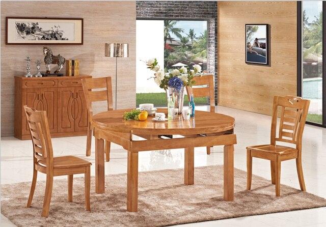 Toda la madera sólida mesa de comedor ofertas restaurante comedor ...