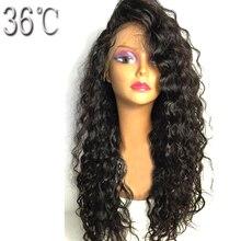 Paff бразильский вьющиеся Синтетические волосы на кружеве Человеческие волосы Парики для черный Для женщин длинные волосы парик не Реми предварительно сорвал с ребенка волосы отбеленные Узлы