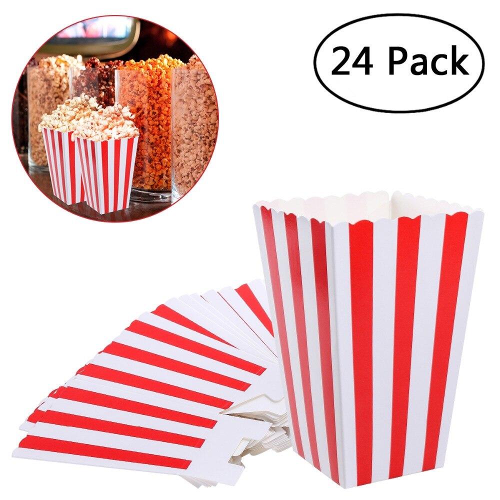 Popcorn Boîtes Titulaire Conteneurs Cartons Papier Sacs Bande Boîte pour Film Théâtre Des Tables de Dessert Faveurs De Mariage