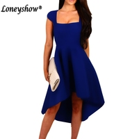 Loneyshow Formal Dress Plus Size Empire Summer Dress 2017 Vintage Asymmetrical Trumpet Women Dress Elegant Vestidos