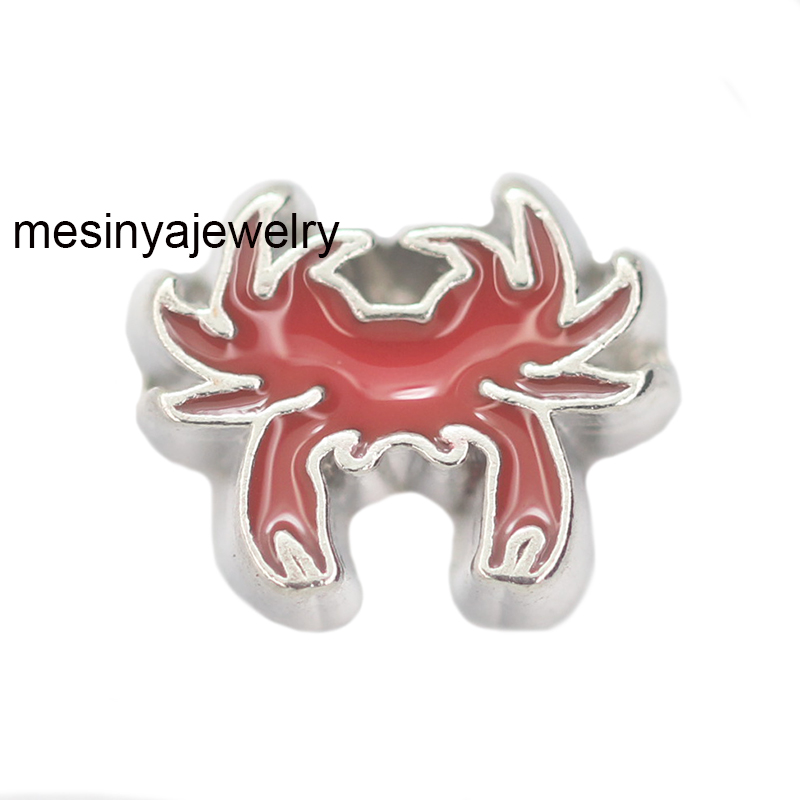 10pcs Crab floating charms for glass locket,FC-996.Min amount $15 per order mixed items ...
