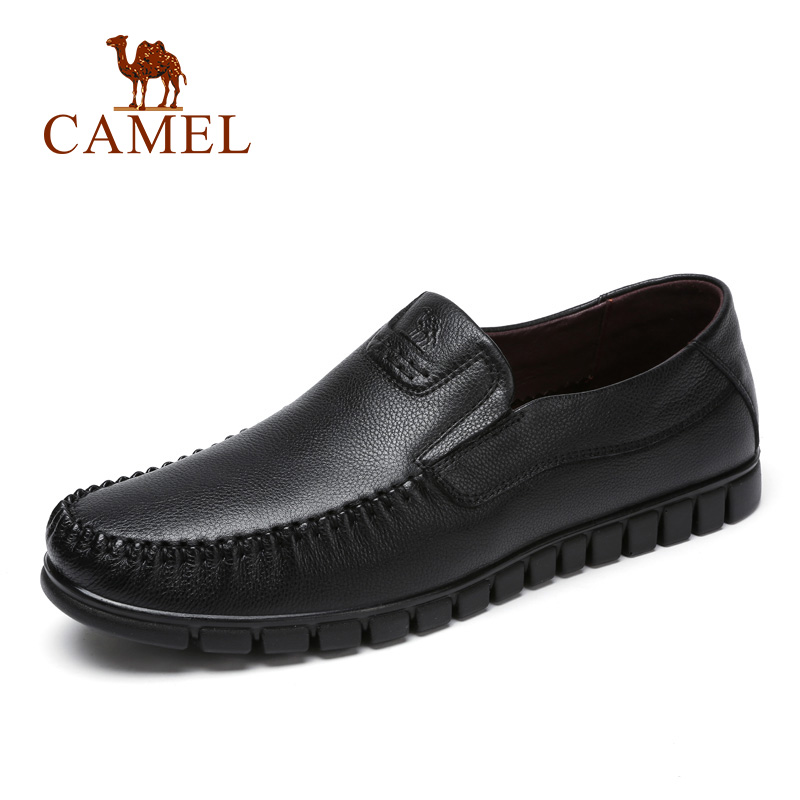 CAMEL New Breathable Man Shoes Business Loafers Cool Punch Leather Genuine Leather Shoes For Men Male Moccasin