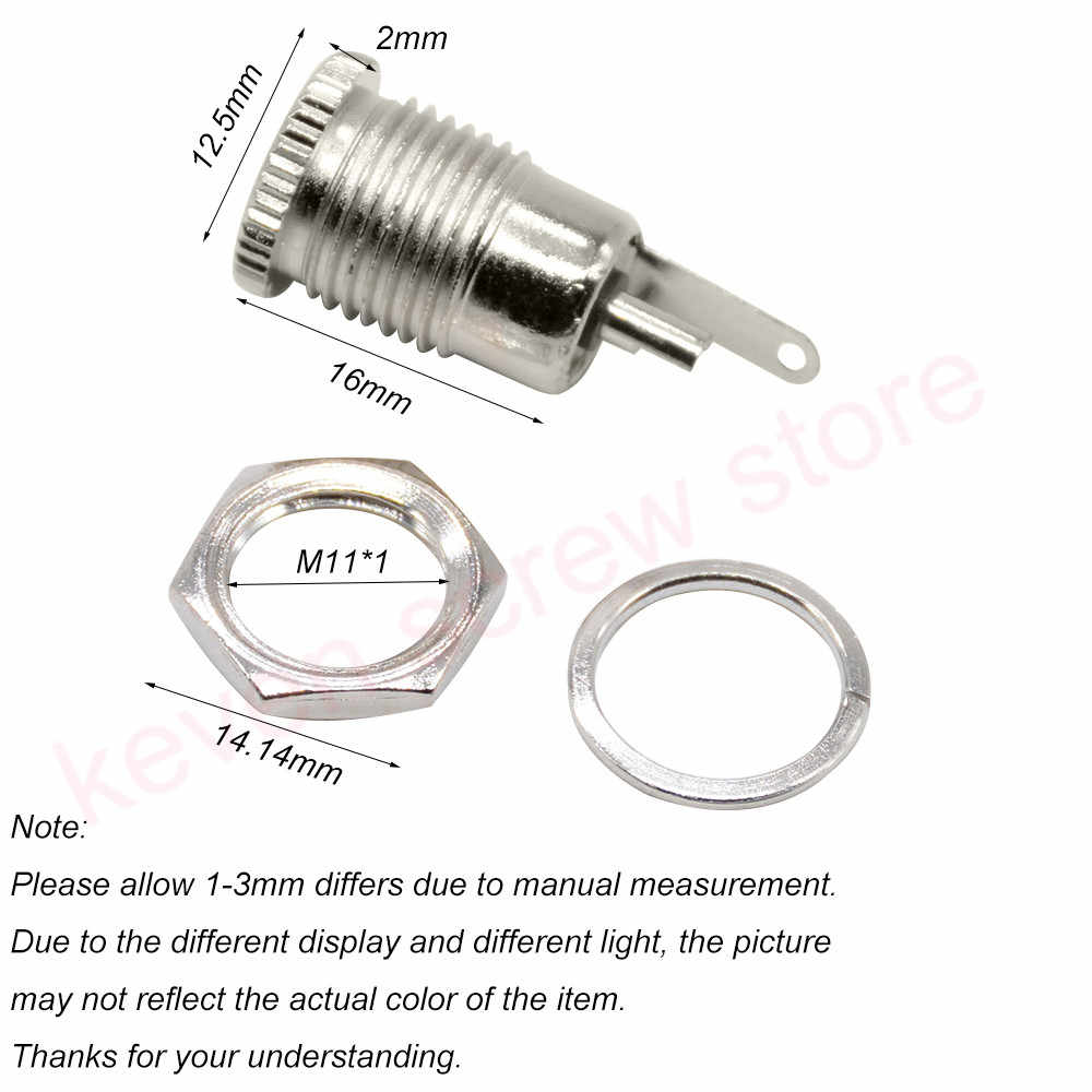 DC-099 5.5mm x 2.1mm 5.5mm x 2.5mm 5A 30V DC prise de courant femelle connecteur de montage sur panneau 5.5*2.1 5.5*2.5 trou ouvert 11MM