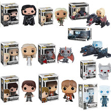 FUNKO POP Song Of Ice And Fire&Game Of Thrones Jon Snow,Daenerys Targaryen,Drogon,Ghost pvc action figure toys for children gift(China)
