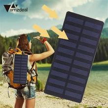 Amzdeal 3W 5.5V Polysilicon Solar Panel Charger Garden Lamp Outdoor Portable 15×6.9cm Solar Cells Power Bank Light Charging