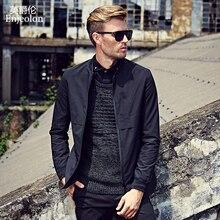 Enjeolon brand pilot Bomber windbreaker jackets men fashion black solid Mens casual coats stand collar Men cool clothes JK0322