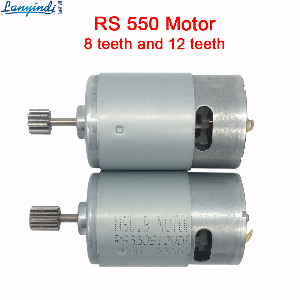Dc motor 12v for children electric car,rc car dc engine 6v, baby car electric engine, rs550 motor with 12 teeth and 8 teeth gear aluminum water cool flange fits 26 29cc qj zenoah rcmk cy gas engine for rc boat
