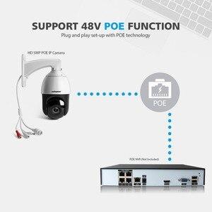 Image 2 - H.265 5MP POE IP PTZ מצלמה אודיו מהירות כיפת טלוויזיה במעגל סגור מצלמה אבטחת Onvif חיצוני פאן הטיה 30X זום יום הלילה לייזר IR 100m P2P