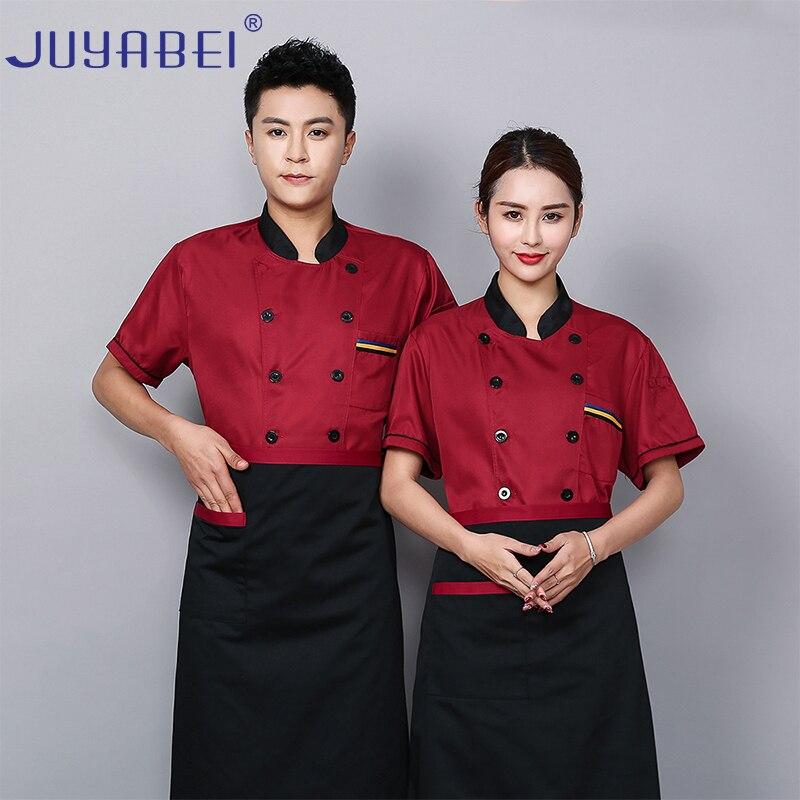 Universal Back Breathable Mesh Chef Uniform Wholesale Food Service Restaurant Hot Pot Shop Barbecue Work Clothes Unisex Summer