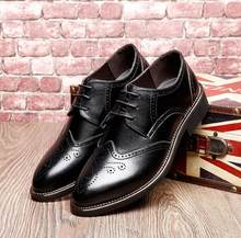 Male Office Retro Cut Outs Bullock Business Dress Oxford Shoes Men Winter Plush Lace Up Zapatos Hombre Soft Daily Leather Shoes(China)