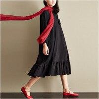 Winter Dress O Neck Long Sleeve Vestido De Festa Green Black Women Dress Plus Size Knitted