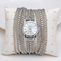 Women Fashion Multi Layers Chains Bracelet Watches Vogue Girls Wide Band Party Dress Wristwatch Popular Analog Relojes NW3260