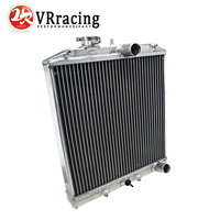 VR RACING 2 Row 42MM Aluminum car auto Radiator for Honda Civic Del Sol 92 00 MT EG / EK VR SX103