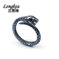 Lengkea jewery Rings for men silver 925 sterling silver rings retro snake women's rings charms men women jewelry adjustable gift