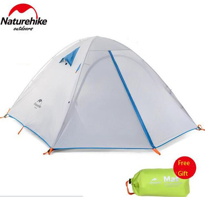Naturehike Outdoor hiking travel 3 Person Double Open Camping Tent Double-Layer Aluminum Pole Waterproof Tent brand 1 2 person outdoor camping tent ultralight hiking fishing travel double layer couples tent aluminum rod lovers tent