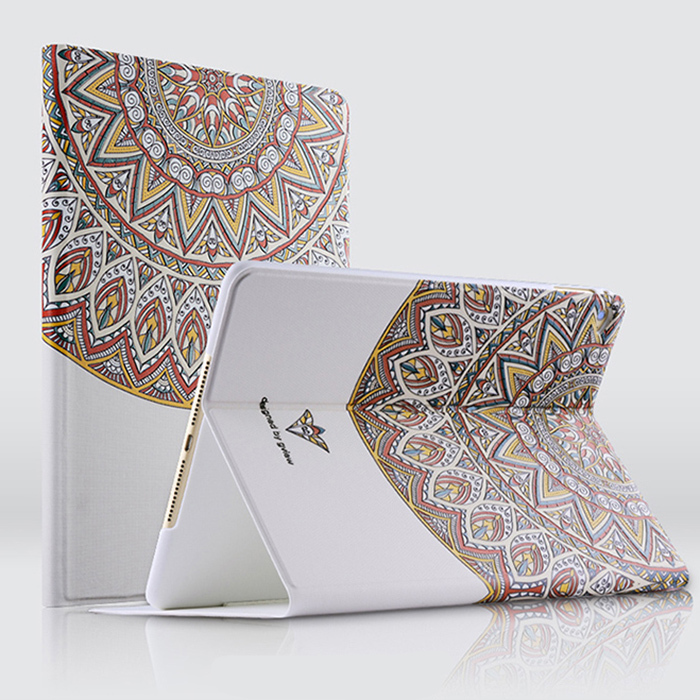 For ipad 6 case High quality Fashion 3D relief painting leather cover case for Ipad Air