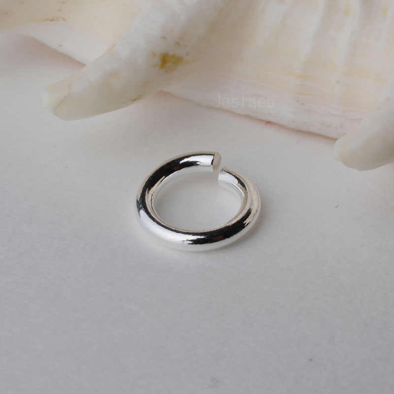 solid 925 Sterling Silver open jump ring ,DIY components