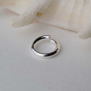 solid 925 Sterling Silver open jump ring ,DIY components. sold by 1 piece. image
