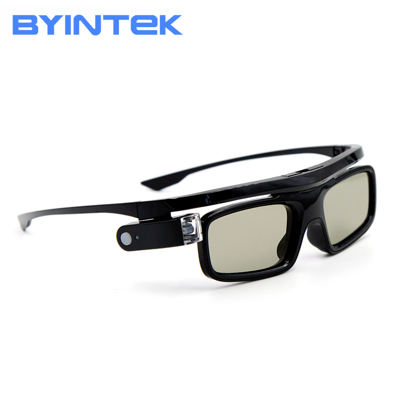 BYINTEK DLP-Link Active Shutter 3D Glass GL1800 For 3D Mini Projector UFO P12 R19 R15 R9  Business Meeting Short  Focus Cloud K5