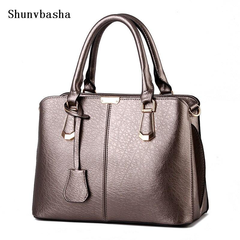 2016 Famous Brands Women PU Leather Handbags Hot Medium Shoulder Bags Luxury Women Messenger Bag Female