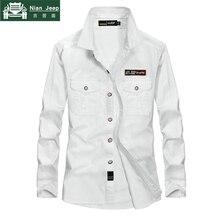 2018 Brand Men Shirt 100% Pure Cotton Long Sleeves Casual Shirts Men P