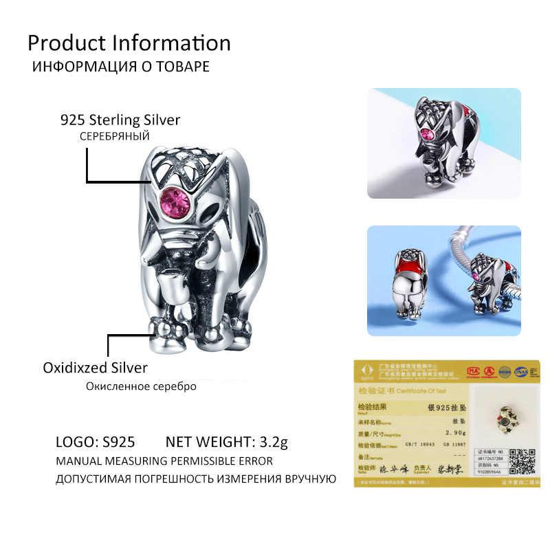 925 เงิน Ladybug Bulldog แมวเต่าช้างสัตว์ Bee เต่า Charms ลูกปัดพอดีสร้อยข้อมือ DIY เครื่องประดับลูกปัดทำ