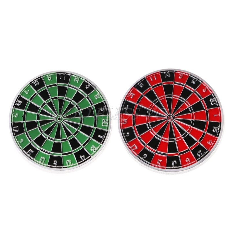 Red Green Commemorative Coin Popular Gift Dart Target Art Collection Souvenir
