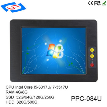 High Quality 8.4 inch Embedded Mini Fanless Industrial Panel PC With Resistive Touch Screen Support 3G/Wifi Modem Tablet PC