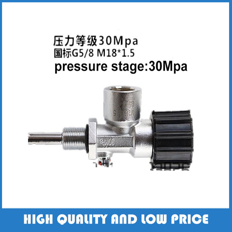 PCP Paintball 300Bar Din Valve Tank ON/OFF M18 Valves For High Pressure Cylinders M18 Male Thread G5/8 Female Thread  high pressure 6 8l 300 bar air tank for pcp rifle hunting airsoft gun or paintball with 3 9kg empty weight