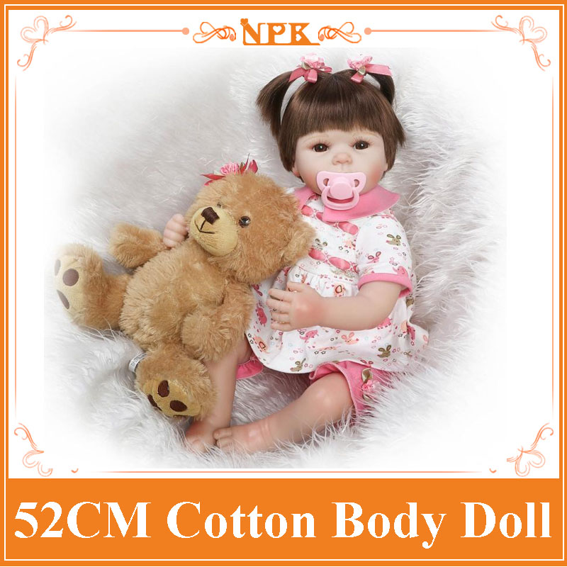 NPK Brand 52cm 21inch Adora Realistic Reborn Dolls With Sweet Real Cotton Made Two-Piece Suit Fashion Design Reborn Bebe Benecas 52cm 21inch npk brand kawaii reborn baby dolls made by 100