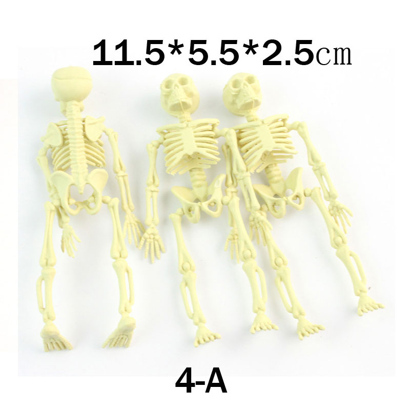 Skeleton Props Household Small Trinkets, Archaize Terrors Pirate Party Supplies Frame Plastic Horror Toy Unisex