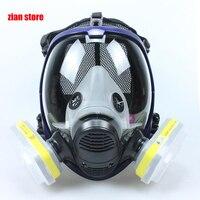 الكيميائية قناع 6800 7 الدعاوى 6001 قناع واقي من الغاز حمض الغبار التنفس الطلاء المبيدات رذاذ سيليكون تصفية مختبر خرطوشة لحام