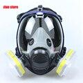Chimica maschera 6800 7 vestiti 6001 Maschera Antigas acido Respiratore polvere Pesticidi Vernice Spray Silicone filtro cartuccia di Laboratorio di saldatura