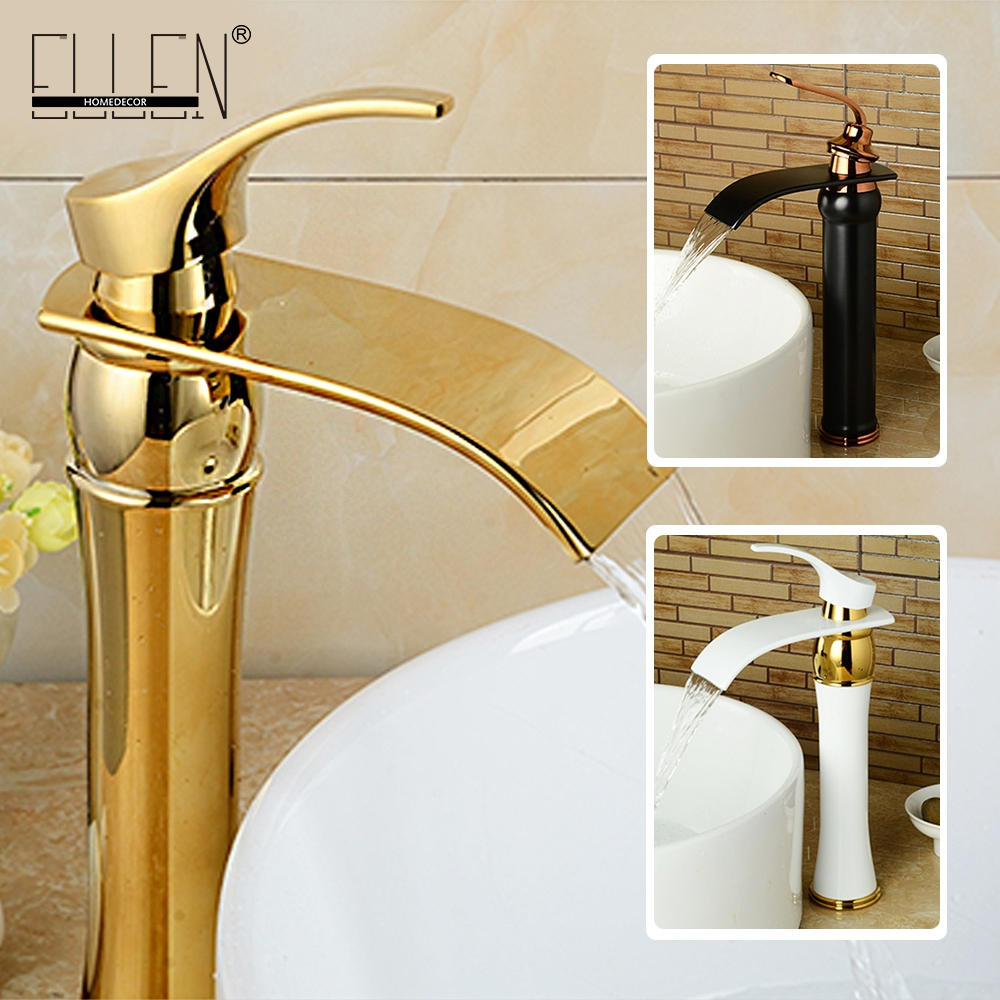 Basin faucet classical bathroom  waterfall faucets soild brass oil-rubbed bronze water tap single handle gold finish mixer allen roth brinkley handsome oil rubbed bronze metal toothbrush holder