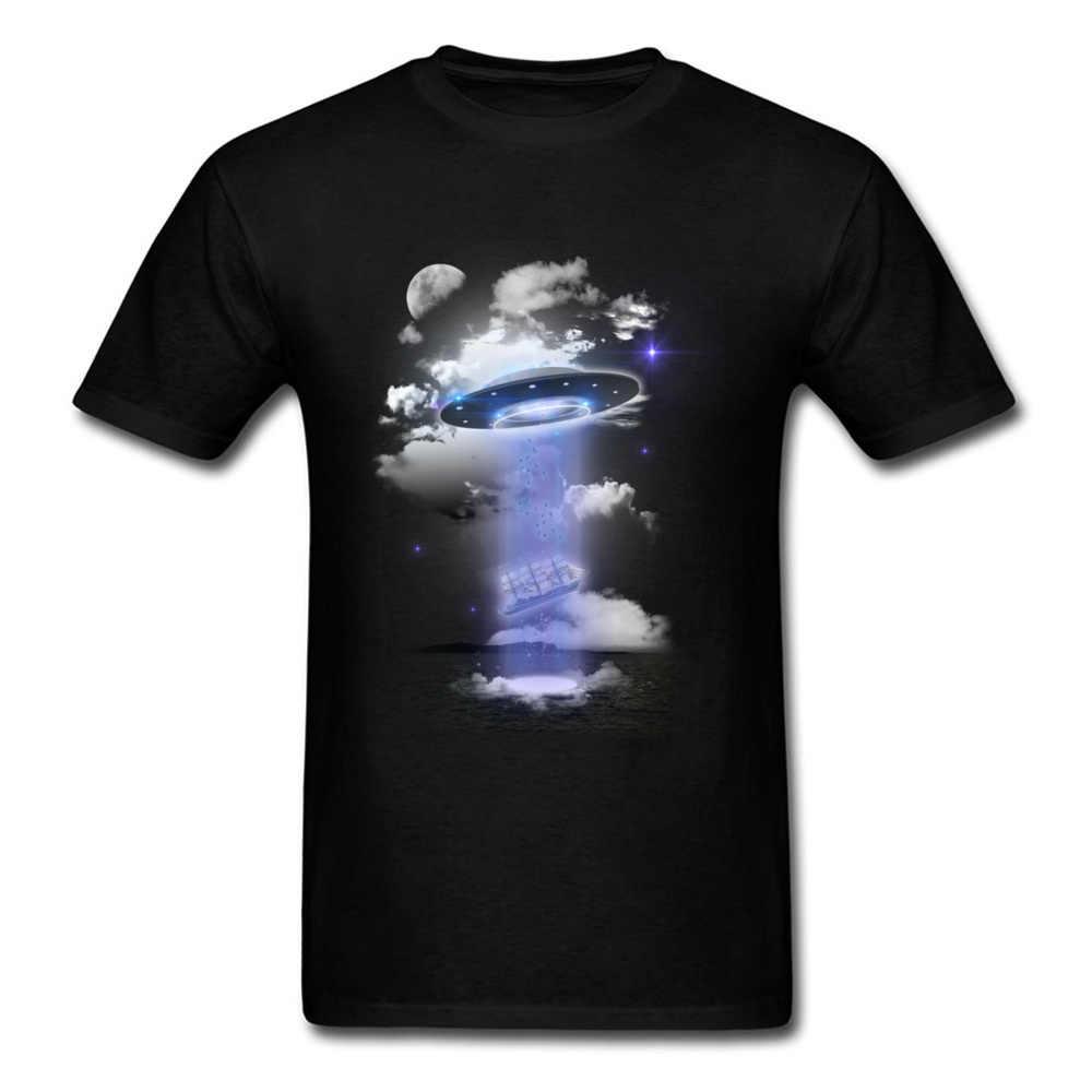 Camiseta Con Estampado De Ufo Para Hombre Ropa Negra Camiseta De 100 Algodon Camisetas Hipster Ropa Estampada Punk Camisetas Aliexpress