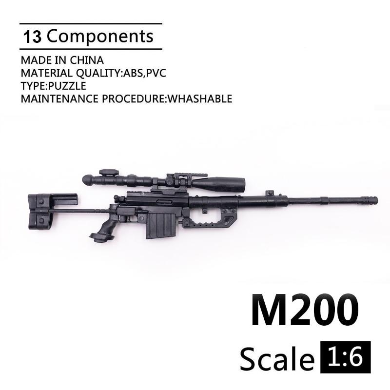"1:6 M200 Rifle De Francotirador 1/6 Modelo De Pistola Recubierto De Plástico Accesorios De Modelo Militar Para Colección De Figuras De Acción De 12"""