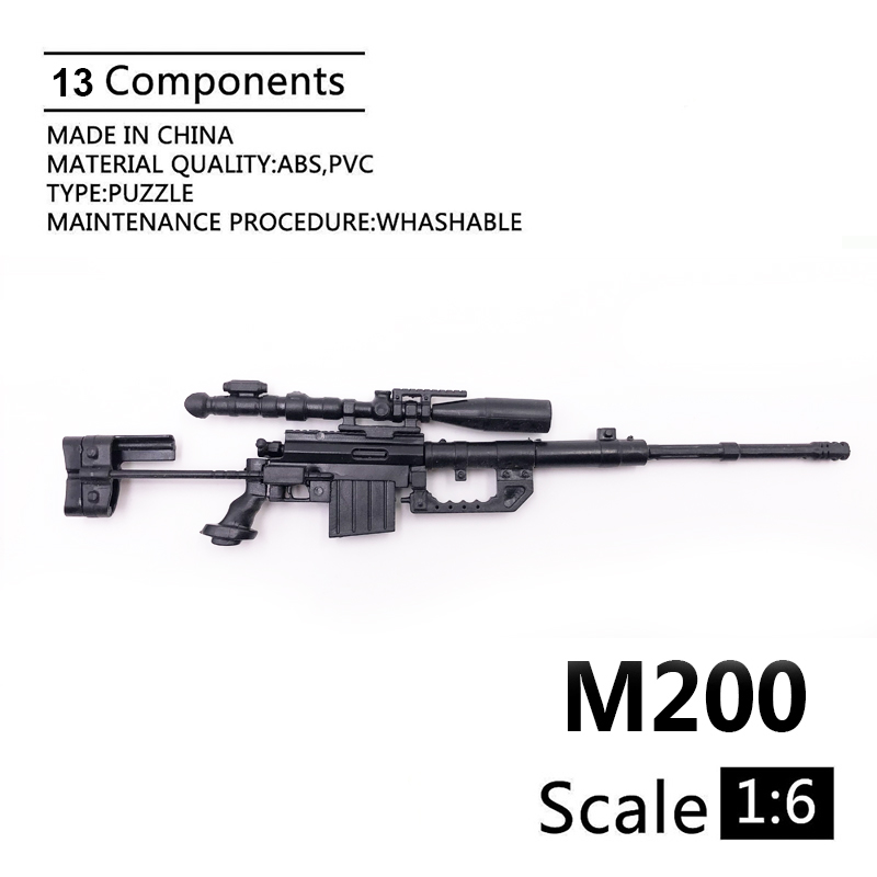 1:6 M200 Sniper Rifle 1/6 Gun Model Coated Plastic Military Model Accessories For 12